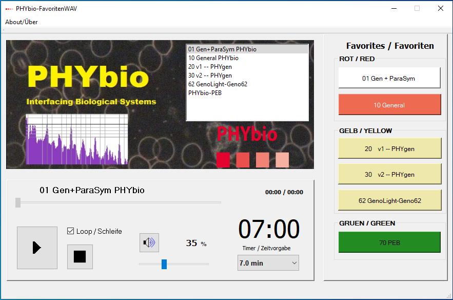 PHYbio Player